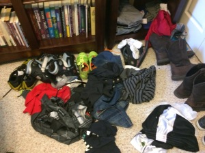 clothing on floor