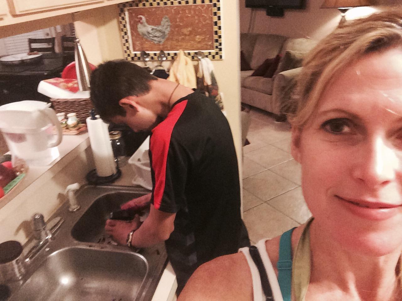 making borscht